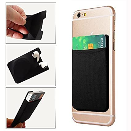 free shipping a7e2f fb03b GreatforU Universal Smartphone Back Card Holder, Stick-on Cell Phone Case  Ultra-slim 3M Adhesive Credit Card Pocket Money Wallet Sticker for iPhone  XS ...