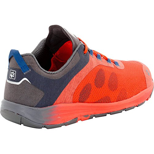 Jack Wolfskin Mens Portland Chill Low Breathable Air Mesh Sneakers Lobster Red
