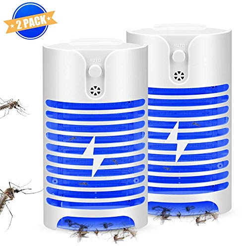 KeShi Mosquito Lamp with Light Sensor,Plug-in Mosquito Lamp with UV Light,Indoor Portable High-Voltage Grids Lamp,No Chemical Composition,Odorless,Noiseless Fit for Home/Offices/Porches/Warehouses