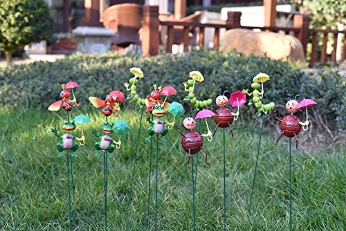 Fendisi Bee Flog Garden Stakes Decorations Outdoor Lawn Decorative