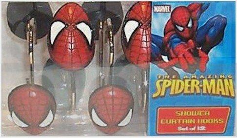 Amazon BigKitchen Spiderman Shower Curtain Hooks Set Of 12 Home Kitchen