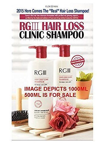 RGIII Red Ginseng Hair Loss Clinic Shampoo 2pcs Set For Mitigating Hair Loss and Nourishing Scalp  by RGIII