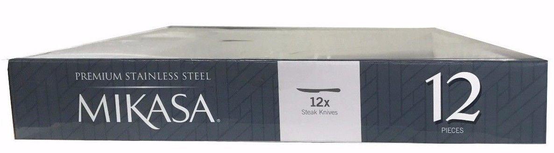 Mikasa Bravo Premium Stainless Steel Steak Knife, Silver (Set of 12) by Mikasa
