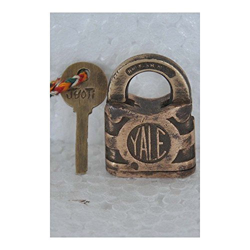 Old cobre pequeño 'Yale' marca hecha a mano candado, de gran bretaña