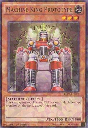 Yu-Gi-Oh! - Machine King Prototype (BP03-EN019) - Battle Pack 3: Monster League - 1st Edition - Shatterfoil