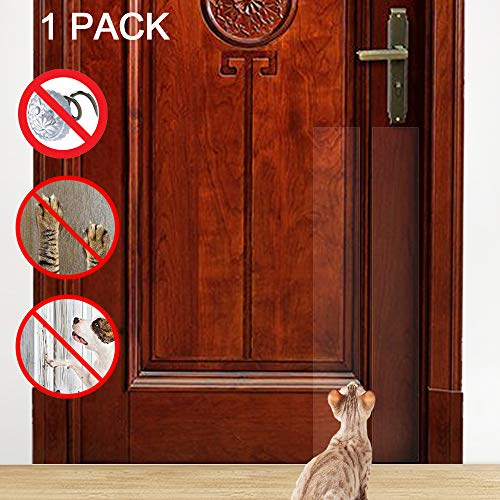 IN HAND Cat Furniture Protector, Extra Long Self-Adhesive Clear Flexible Toughest Scratch Window Screen Door Protector, Stops Scratching Furniture & Walls, Cat Scratcher (60