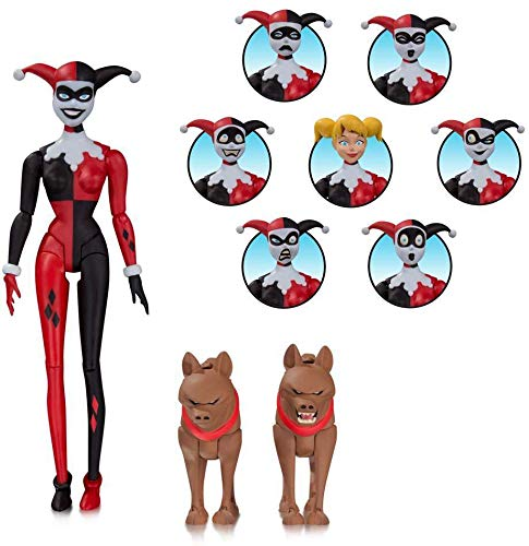 Action Figure Animated Harley Quinn Expressions - Arlequina Diamond Select Multicor