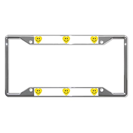 PEACE LOVE HEART PAW METAL HEAVY DUTY BLACK License Plate Frame Tag Holder