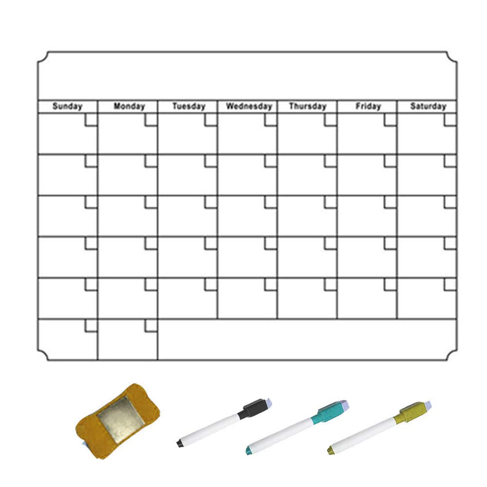 Yuanj Calendario Magnético para Nevera- Ideal para Planificar ...