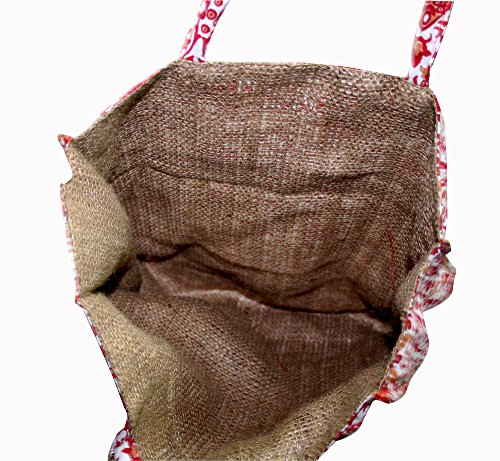 100 Bag Hippie hobo Tote Shopping New Pcs Bag Lot Bag Shoulder Jute thehandicraftworld Wholesale Cotton wBOqxzvF