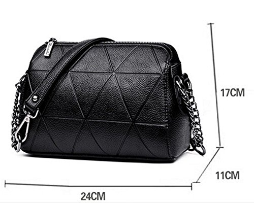 Messenger Handbags PU Shoulder bag bag Women's Black leather Totes Xdz1XP
