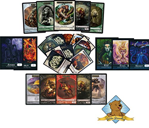 100-assorted-magic-the-gathering-tokens-includes-5-custom-golden-groundhog-tokens