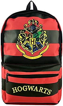 Unisex Harry Potter Hogwarts Striped Canvas Schoolbag Rucksacks