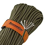 Titan SurvivorCord | Olive-DRAB | 103 Feet | Patented Military Type III 550 Paracord/Parachute Cord (3/16' Diameter) with Integrated Fishing Line, Fire-Starter, and Utility Wire.