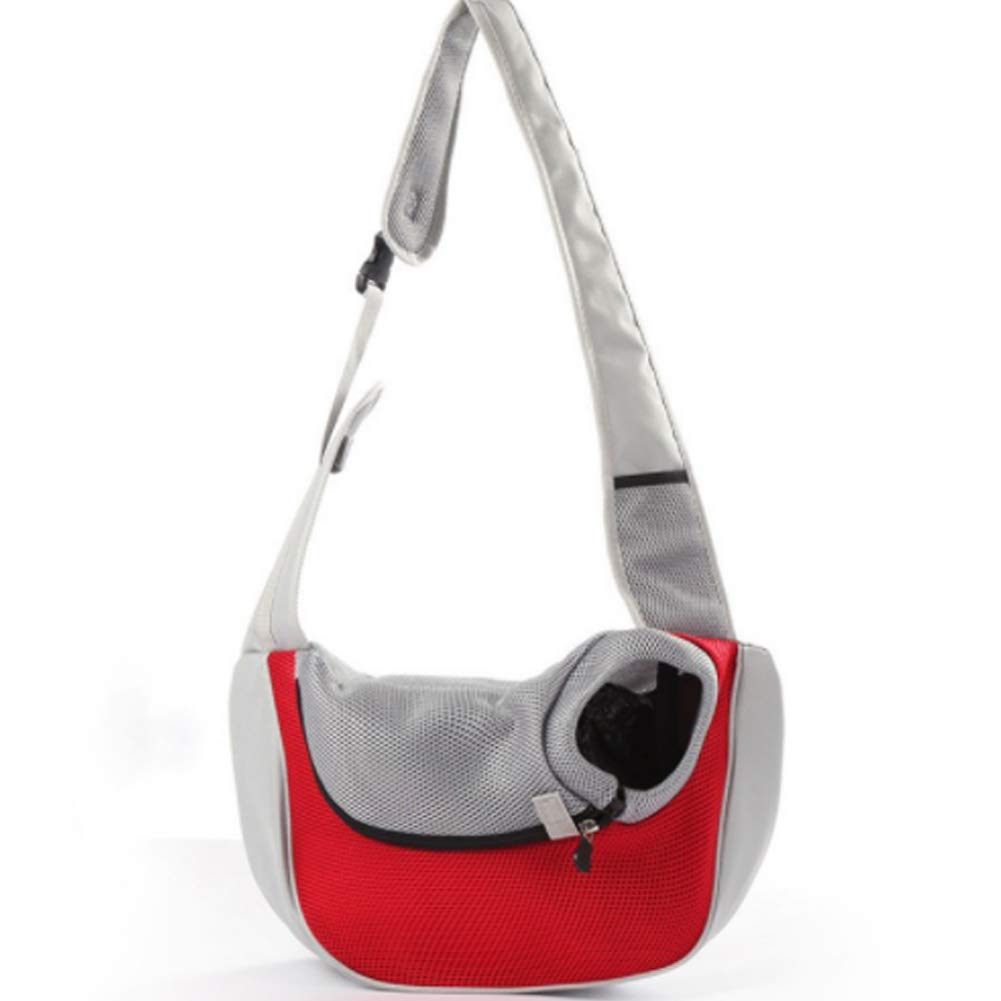 Red Small red Small Pet Sling Carrier,with Soft Mesh Hands Free Sling Bag Head Out for Dog Cat Pets Travel Shoulder Bags