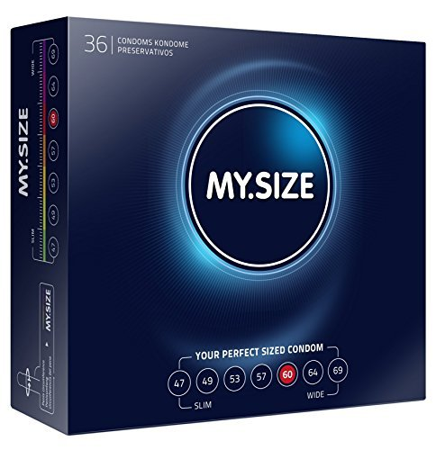 My Size Condoms 60mm x36 XL Extra Large Condoms (German Engineering at its best) by My Size-Vegan
