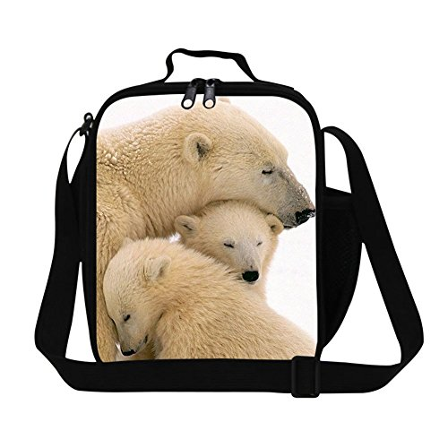 Generic Fashion Adult Polar Bear Lunch Bag for Work Personalized Polyested Picnic Food Bag for Girls