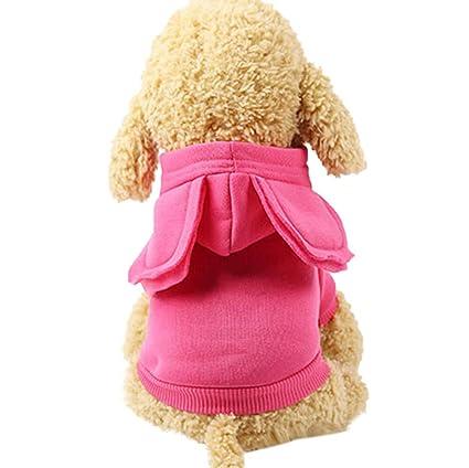 BBsmile Suéter Perro Poliéster Ropa para Mascotas Sudaderas con Capucha Ropa para Perros Ropa para Mascotas