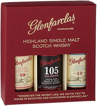Glenfarclas Miniset (10 YO, 12 YO, 105) 47,7% - 3 x 50 ml in Giftbox