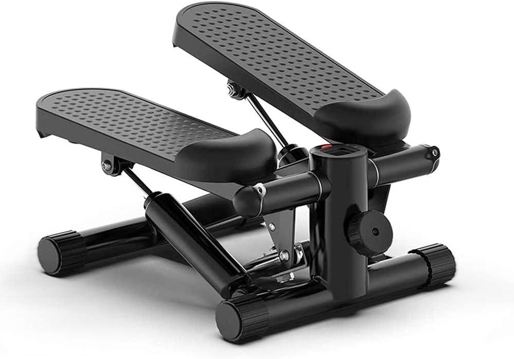 DQDF Step Cardio Fitness Stepper Cardio con Pantalla Led Y Cuerdas De Entrenamiento,para Entrenamiento De M/úsculos De Piernas,Brazos Y Gl/úteos