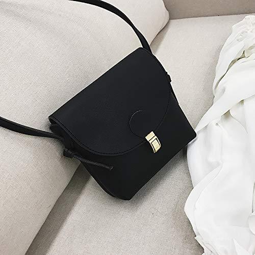 Bag Sac Fille Version épaule Hong Femme WSLMHH Noir Kong Sac marée été coréenne Petit rétro Sauvage Messenger Style axxqCdw