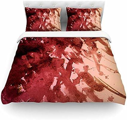 88 X 88 KESS InHouse Ebi Emporium Make A Wish Orange Red Queen Comforter