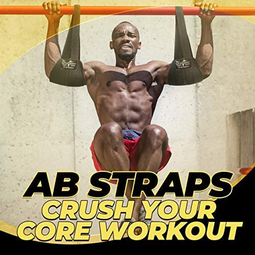Hanging Ab Strap Padded Sling Abdominal Crunch Gym Leg Raise Pull Up Arm Fitness