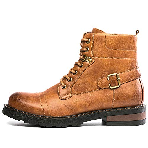 GOLAIMAN Men's Combat Boots Casual Motorcycle Army Work Dress Boots