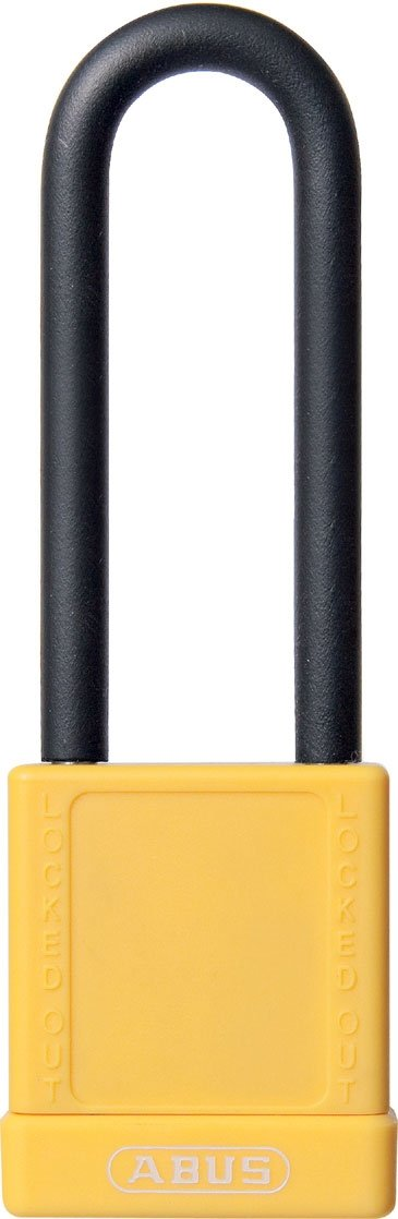 ABUS 74HB/40-75 MK Safety Lockout Non-Conductive Master Keyed Padlock with 3-Inch Shackle, Yellow