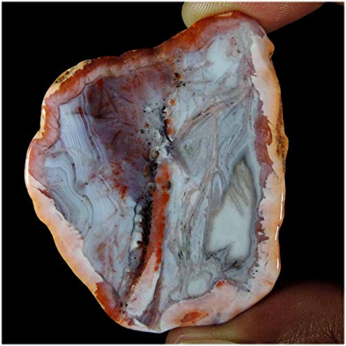 GEMSCREATIONS Rough Morocco Berber Agate for Cutting, Lapidary, Natural Display 128.00Cts.