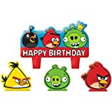 """Party Time Angry Birds Molded Mini Character Birthday Candle Set, Pack of 4, Multi , 1.25"""" Wax"""