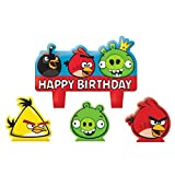 Party Time Angry Birds Molded Mini Character Birthday Candle Set, Pack of 4, Multi , 1.25