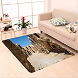 Nalahome Custom carpet alaxy One of Abandoned Sets of the Movie in Tunisia Desert Phantom Galaxy Wars Themed Brown Blue area rugs for Living Dining Room Bedroom Hallway Office Carpet (36''x118'')