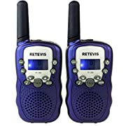 Amazon Lightning Deal 95% claimed: Retevis RT-388 Kids Walkie Talkies UHF 462.5625-467.7250MHz VOX 22CH Portable FRS/GMRS Two Way Radio with Flashlight (Dark Blue,1 Pair)