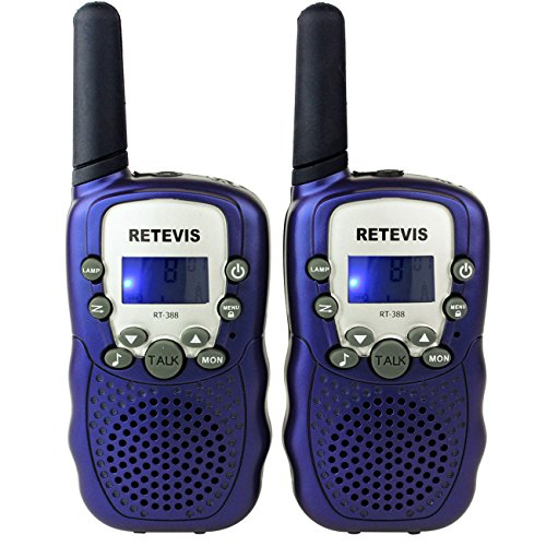 Amazon Lightning Deal 77% claimed: Retevis RT-388 Kids Walkie Talkies UHF 462.5625-467.7250MHz VOX 22CH Portable FRS/GMRS Two Way Radio with Flashlight (Dark Blue,1 Pair)