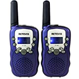 Retevis RT-388 Kids Walkie Talkies UHF 462.5625-467.7250MHz VOX 22CH Portable FRS/GMRS Two Way Radio with Flashlight (Dark Blue,1 Pair)