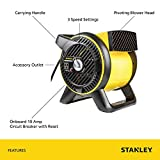 "STANLEY ST-310A-120 Air Blower, 12"", Yellow"