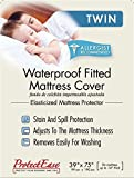 ProtectEase Premium Waterproof & Allergy Fitted Mattress Cover (Twin)