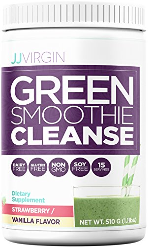JJ Virgin - Green Smoothie Cleanse, Strawberry-Vanilla Flavor, 510 Grams by JJ VIRGIN