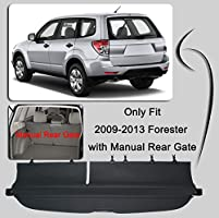 Kaungka Cargo Cover Retractable Compatible for 14-18 Subaru Forester Black with Manual Rear gate not fits for Power Rear gate