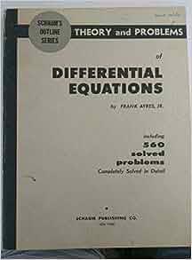 Equations schaum outline differential pdf