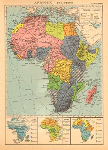 Africa Nations Map.Amazon Com Colonial Africa Afrique League Of Nations
