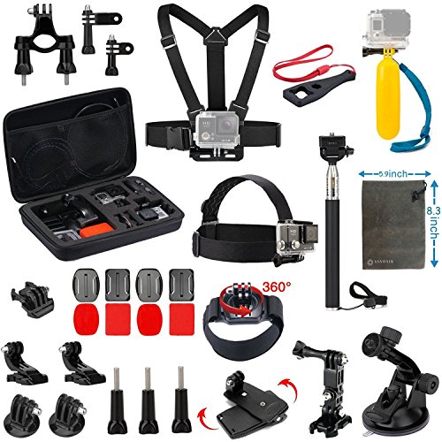 VANWALK Accessories Kit for AKASO EK5000 EK7000 4K WIFI DBPOWER Action Camera Gopro Hero 5/Session 5/Hero...