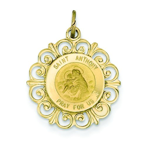 14K-Gold-Saint-Anthony-Medal-Pendant