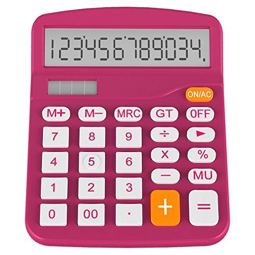 Calculator, Helect Standard Function Desktop Calculator (Plum) - H1001C
