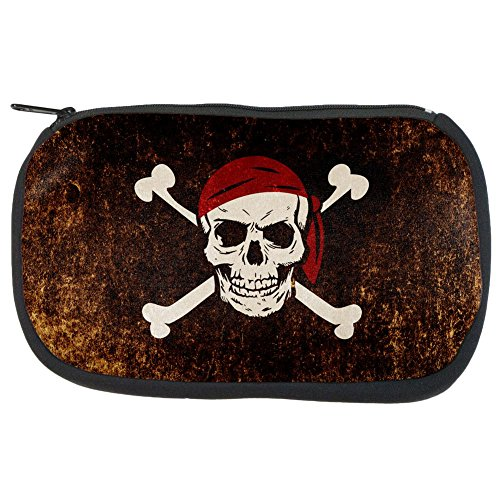Jolly Roger Pirate Flag Distressed Grunge Makeup Bag Multi Standard One Size