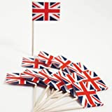 Union Jack Flag Cocktail Sticks - 50 Pack - Ideal For Parties BBq's Queens Jubilee by drinkstuff
