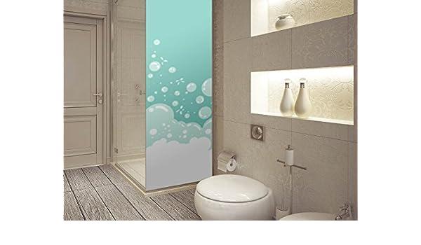 Vinilo para Mamparas Baños Burbujas Verdes | Varias Medidas 200x70cm | Adhesivo Resistente y de Fácil Aplicación | Pegatina Adhesiva Decorativa de Diseño Elegante: Amazon.es: Hogar