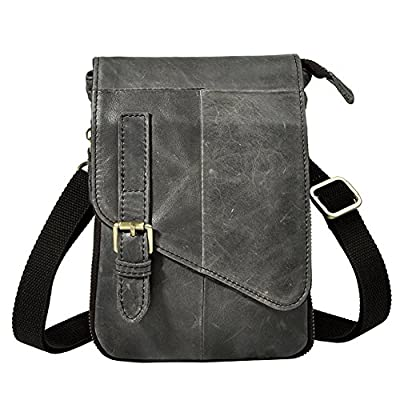 4697775eec 30%OFF Genda 2Archer Mens Genuine Leather Flapover Cross Over Shoulder Bag