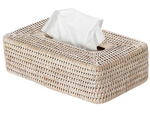 (KOUBOO 1030054 La Jolla Rattan Rectangular Tissue Box Cover, 10